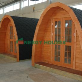 Camping pod 6 m with 2 rooms