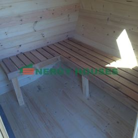Oval sauna 4 m with 2 rooms