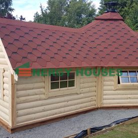 Grill cabin 9.2 m with 2 m extension